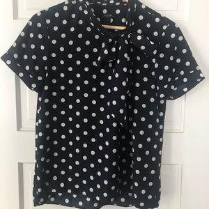 J Crew factory polka dot blouse